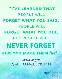Remembering the vision and leadership of Maya Angelou, who inspired so ...