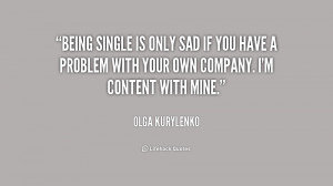 Sad Quotes About Being Single Preview quote