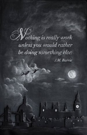 Inspirational Chalkboard Quote J.M. Barrie by DANGERDUST on Etsy
