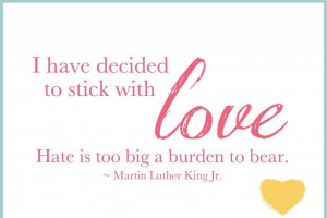 images of quote on the burden of hate by martin luther king jr ...