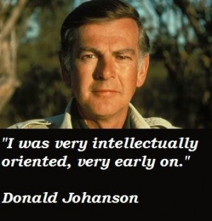 Donald johanson famous quotes 3