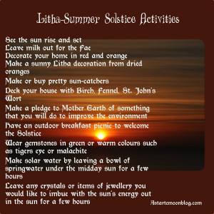 ... Ways to Celebrate Litha! How will you celebrate the summer solstice