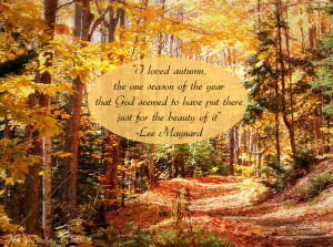 ... fall quotes. This quote from Lee Maynard about autumn is so beautiful