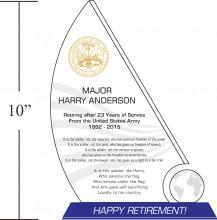 sample army retirement
