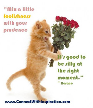 April Fool Quote, Mix A Little Foolishness Quote, Inspirational Quote