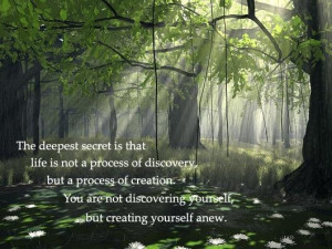 discovery becomes creation
