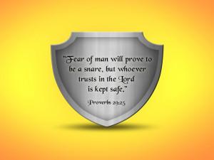 Bible Verse: Proverbs 29:25