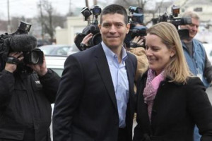 Gabriel Gomez with his wife Sarah appeared in February on the US
