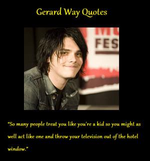 Gerard Way2013 http://emoicgirl.deviantart.com/art/Gerard-Way-Quotes-2 ...