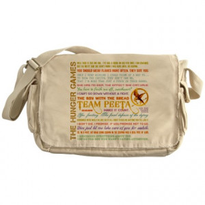 ... Gifts > Hunger Games Bags & Totes > Team Peeta Quotes Messenger Bag