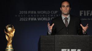 Landon Donovan during the USA's World Cup bid proposal on Dec 1st ...