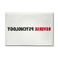 Reverse Psychology Rectangle Magnet (10 pack) for