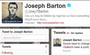 Is it Joe or Joey? Barton refers to himself as the latter on his web ...