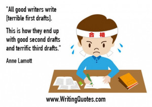 Home » Quotes About Writing » Anne Lamott Quotes - Second Drafts ...