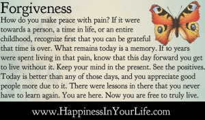 how do you make peace with pain if it were towards a person a time in ...