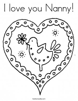 love you Nanny! Coloring Page