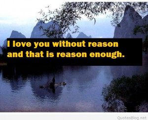 love you without reason quote