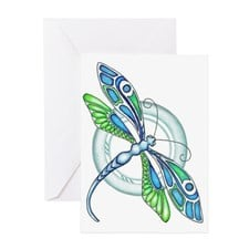 Decorative Dragonfly Greeting Card for