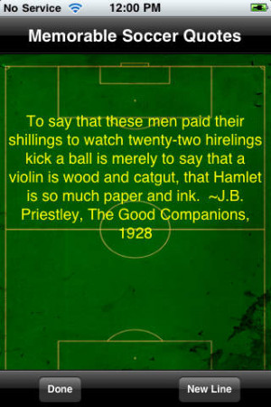 Soccer's Most Memorable Quotes - iPhone Mobile Analytics and App Store ...