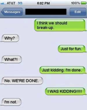 Breaking up like a boss