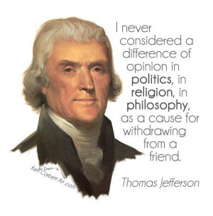 wish conservatives who repeat other quotes of Thomas Jefferson as a ...
