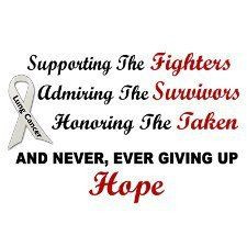 ... hope in the battle against lung cancer... A network of hope and action