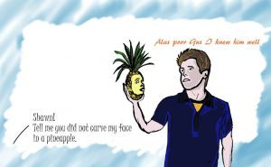 Psych Pineapple Drawing