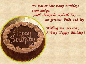 Express your love and adoration for your son on his birthday.