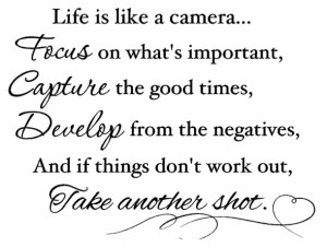 Life Is Like A Camera Beautiful Quotes About Life
