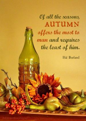 Fall autumn quotes sayings photos hal borland