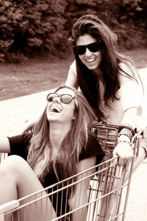 best freinds forever, best friend, bff, black and white, blonde ...