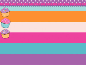 Cupcakes Custom Twitter Backgrounds