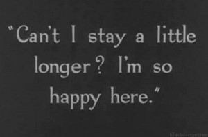 Can't I stay a little longer I'm so happy here - Modern Times (1936)