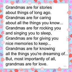 Mamaw You Were All These Things...I Loved It When I Would Spend The ...