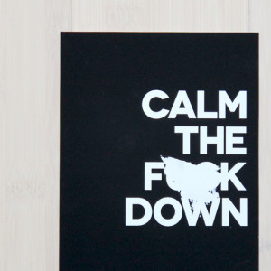 Calm the F**k Down – for when subtlety just won't work.