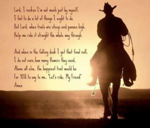 Cowboys prayers