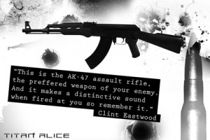 movies quotes clint eastwood typography ak47 ak 1920x1280 wallpaper ...