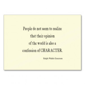 Vintage Emerson Inspirational Character Quote Business Cards