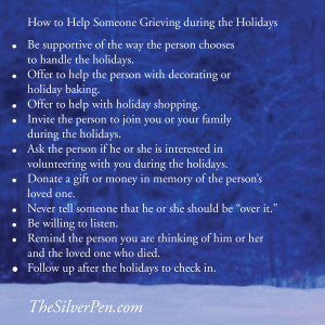 how to help someone who is grieving and depression