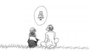 , anime, black n white, boy, couple, cry, depress, forget me, girl ...