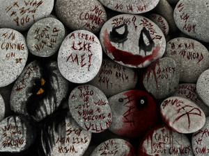 joker quotes on rocks by Paullus23