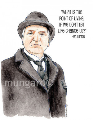 Watercolor print of Mr. Carson from Downton Abbey with favorite quote ...