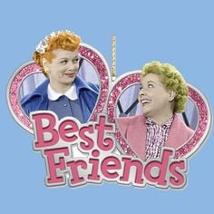 Love Lucy, Best Friends Lucy & Ethel Ornament More