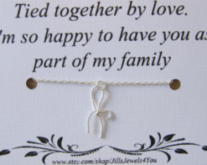 ... Quote Inspirational Card- Step Daughter Gift - tied together by love