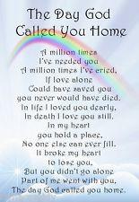 A* Brother Dad Son Husband Grandad Bereavement Memorial Keepsake Grave ...