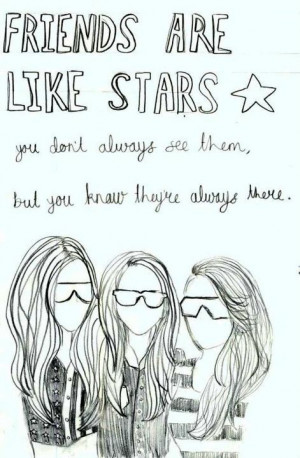 art, best friends, drawing, friends, girl, hair, klou, quote, quotes ...