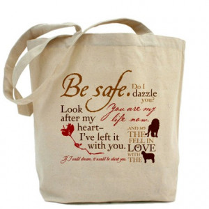 Bella Gifts > Bella Bags & Totes > Edward Cullen Quotes Tote Bag