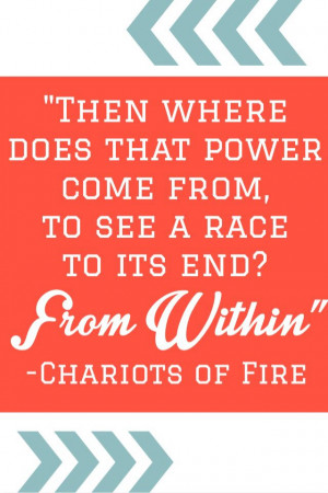 ... of fire, Eric Liddell. Race motivation, cross country and track
