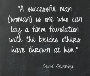 David Brinkley #quote. However, I added the word (woman).
