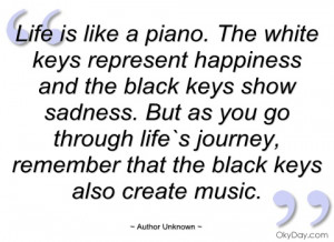 life is like a piano author unknown
